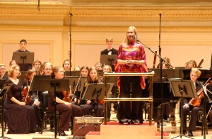 Giving opening remarks at Carnegie Hall